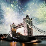 New Year's celebration in East London