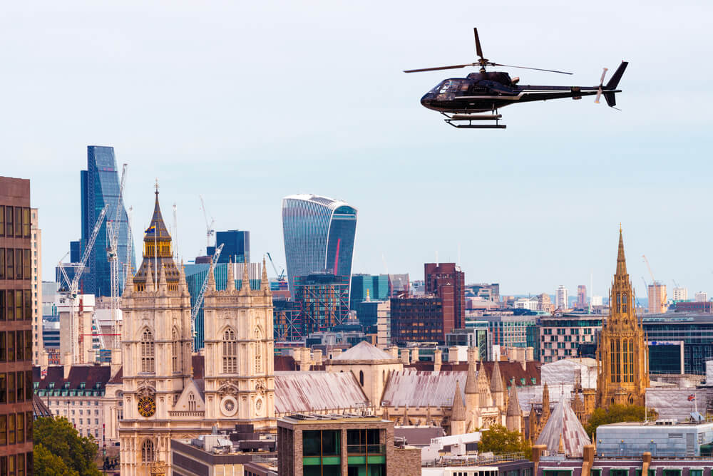 helicopter tour london